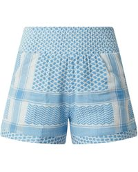 Cecilie Copenhagen Shorts mit Ethno-Muster Modell 'Teresa' - Blau