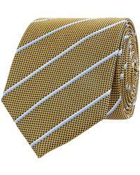 Christian Berg Men Krawatte aus Seide (7cm) - Gelb