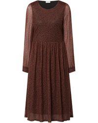 Vila Kleid aus Mesh Modell 'Volette' - Braun
