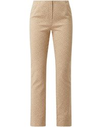 SteHmann Straight Fit Hose mit Allover-Muster Modell 'Ina' - Natur