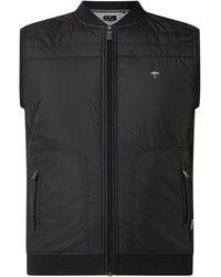 Fynch-Hatton Weste mit Reißverschlusstaschen - Schwarz