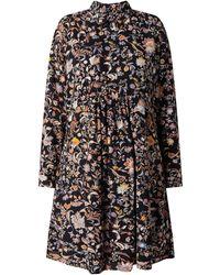Esprit Blusenkleid mit Paisley-Muster - Blau