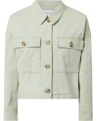 Opus Boxy Fit Jacke mit überschnittenen Schultern Modell 'Hardil' - Grün
