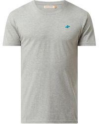 RVLT Regular Fit T-Shirt mit Print - Grau