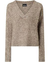 Pieces - Pullover mit überschnittenen Schultern Modell 'Adora' - Lyst