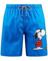 Shiwi Badehose mit PeanutsTM-Print - Blau