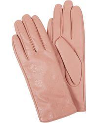 Guess Handschuhe in Leder-Optik - Pink
