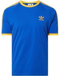 adidas T-Shirt mit Logo-Details - Gelb