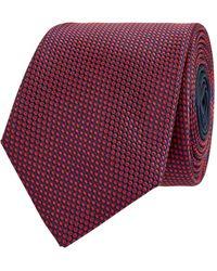 Jake*s Krawatte aus reiner Seide (6,5 cm) - Rot