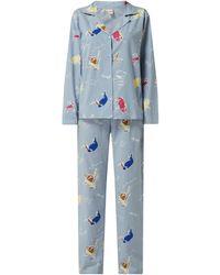 Becksöndergaard Pyjama aus Bio-Baumwolle - Blau