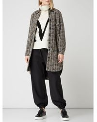Y.A.S Oversized Lange Blazer Van Bouclé, Model 'tawa' - Zwart