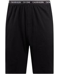 Calvin Klein - Pyjama-Shorts mit Stretch-Anteil - Lyst