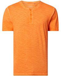 s.Oliver RED LABEL Regular Fit Serafino-Shirt aus Baumwolle - Rot