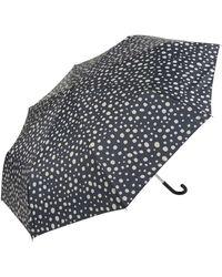 Mango Regenschirm mit Punktmuster - Schwarz