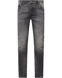 Tigha Slim Fit Jeans mit Stretch-Anteil Modell 'Billy the Kid' - Grau