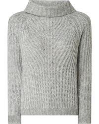 ONLY Rollkragenpullover mit Woll-Anteil - Grau