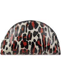 Becksöndergaard Kosmetiktasche mit Leopardenmuster Modell 'Spileo' - Orange