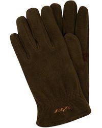 Barbour Handschuhe aus Fleece Modell 'Coalford' - Grün