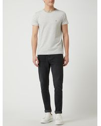 Tommy Hilfiger Slim Fit T-shirt Met Ronde Hals - Metallic