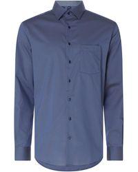 Eterna Regular Fit Business-Hemd aus Popeline - Blau