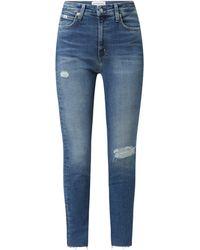 Calvin Klein Skinny Fit High Waist Jeans mit Stretch-Anteil - Blau