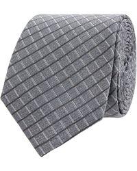 Jake*s Krawatte aus Seide (6,5 cm) - Grau