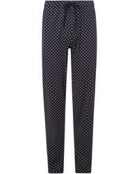 Schiesser Pyjama-Hose aus Baumwolle - Blau