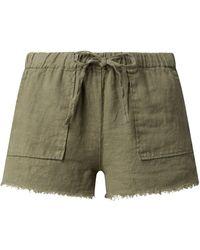 Banana Moon Shorts aus Leinen Modell 'Douglas Hawston' - Grün