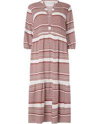 Only Carmakoma PLUS SIZE Kleid aus Viskose Modell 'Marrakesh' - Rot