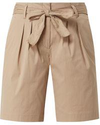 Brax Shorts mit Paperbag-Bund Modell 'Milla' - Natur