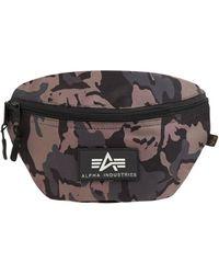 Alpha Industries Bauchtasche mit Camouflage-Muster - Schwarz