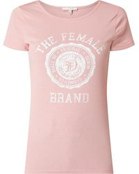 Tom Tailor Denim T-Shirt mit Logo-Print - Pink