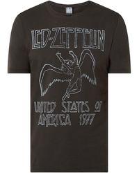 Amplified T-Shirt mit 'Led Zeppelin'-Print - Grau