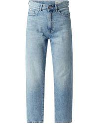 Edc By Esprit Straight Fit High Waist Jeans aus Baumwolle - Blau