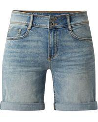 Tom Tailor Slim Fit Jeansshorts mit Stretch-Anteil Modell 'Alexa' - Blau