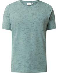 s.Oliver RED LABEL Regular Fit T-Shirt in Melange-Optik - Grün