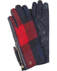 Tommy Hilfiger Handschoenen Met Ruitmotief - Rood