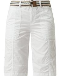 Esprit Bermudas aus Bio-Baumwolle - Weiß