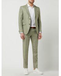 CG – Club of Gents Slim Fit Pantalon Van Een Mix Van Linnen En Lyocell, Model 'paco' - Groen