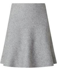 Tom Tailor Denim Strickrock mit breitem Bund - Grau
