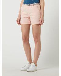Esprit Chino-Shorts mit Gürtel - Pink