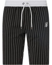 SIKSILK Shorts mit Stretch-Anteil - Schwarz