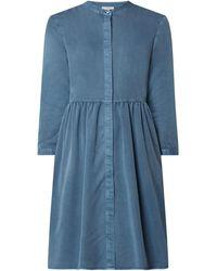 Jake*s Casual Blusenkleid aus Viskosemischung - Blau