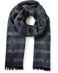 Emporio Armani Sjaal In Wolblend 185 X 45 Cm - Meerkleurig