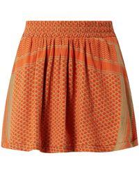 Cecilie Copenhagen Minirock mit Kufiya-Muster - Orange