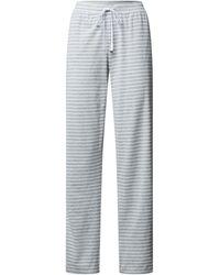 Lauren by Ralph Lauren Pyjamabroek Met Streepmotief - Grijs
