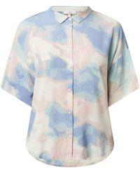 Jake*s Casual Bluse in Batik-Optik - Pink