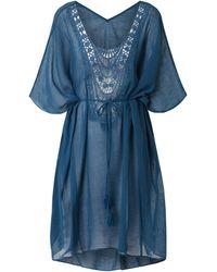 Barts Tunika mit Besatz aus Häkelspitze - Blau