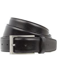 Strellson Ledergürtel mit Dornschließe aus Metall - Schwarz