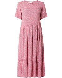 Vila Kleid mit Allover-Muster Modell 'Kidda' - Pink